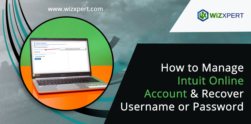 How to Manage Intuit Online Account & Recover Username or Password
