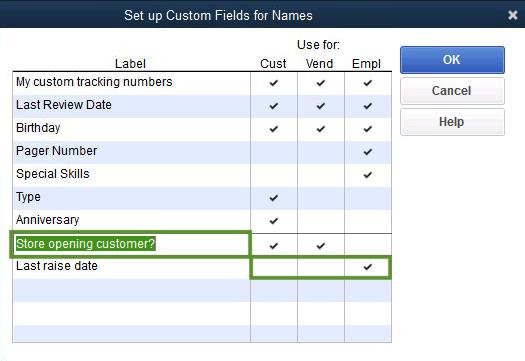 Create And Use Custom Fields In QuickBooks Desktop