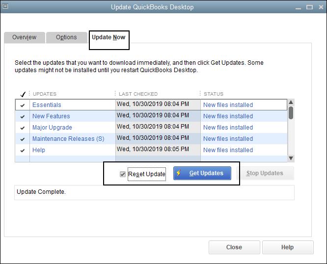 Update QuickBooks Desktop, QuickBooks Error 15107