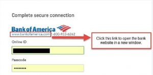 Verify that you can log in to bank website (fix bank upload errors in QuickBooks online)