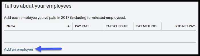 Add employee in QuickBooks Payroll