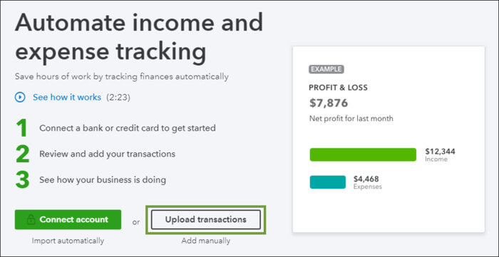 Automate Income and Expense tracking in QuickBooks
