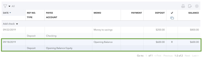 Check Opening Balance in QuickBooks Online