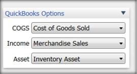 Choose QuickBooks Options for Sales Recipt