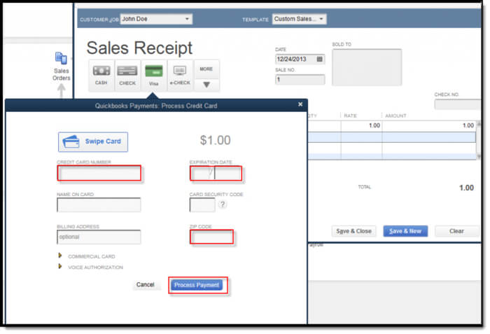 How to Process Credit Card Payments in QuickBooks Online 1