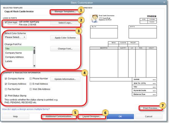 Customize Form Templates In QuickBooks Desktop