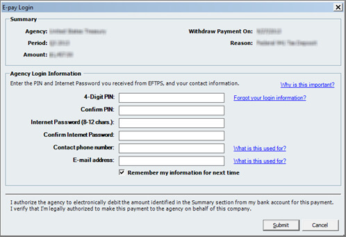 E-pay 940 and 941 in QuickBooks Desktop