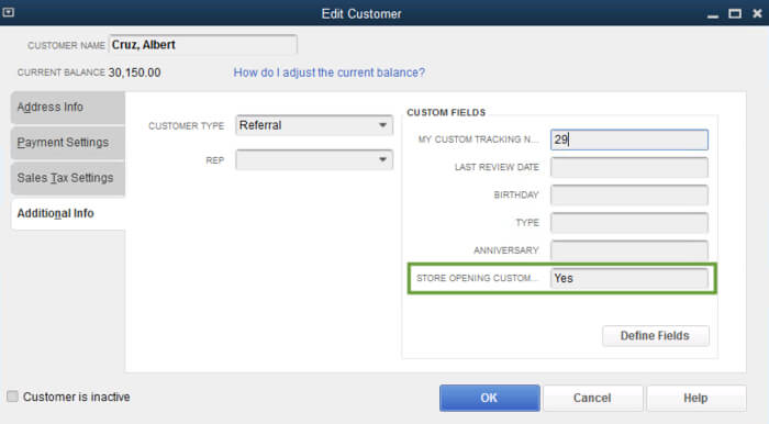 Fill out Custom Field Detail in Profile