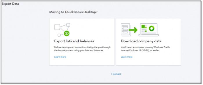 Export and convert QuickBooks Online data to QuickBooks Desktop 1