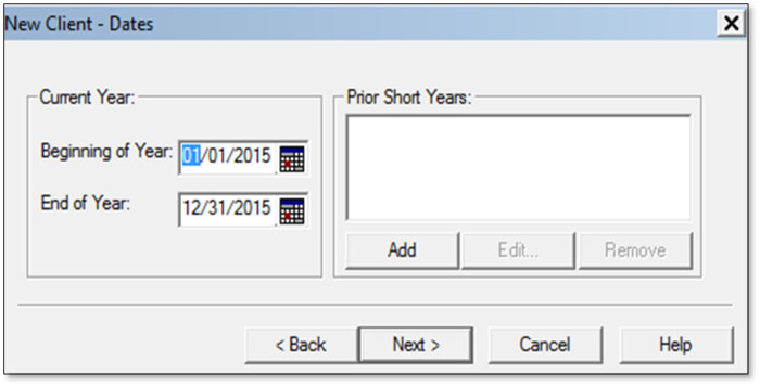 QuickBooks fixed asset manager - Client date