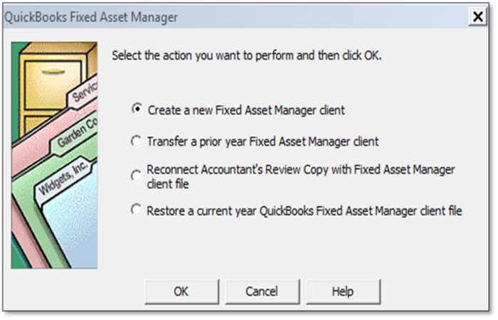 QuickBooks fixed asset manager