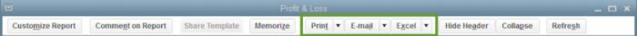 Save print or export Reports in QuickBooks Desktop