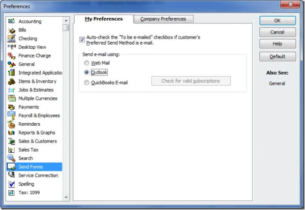 Set Up 'My Preference' in QuickBooks Online