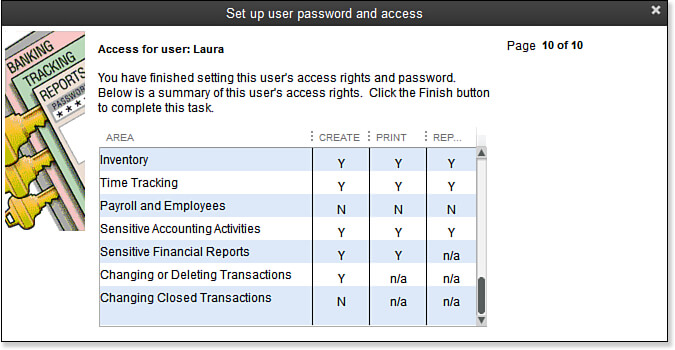 Set Up password and users for new users in QuickBooks